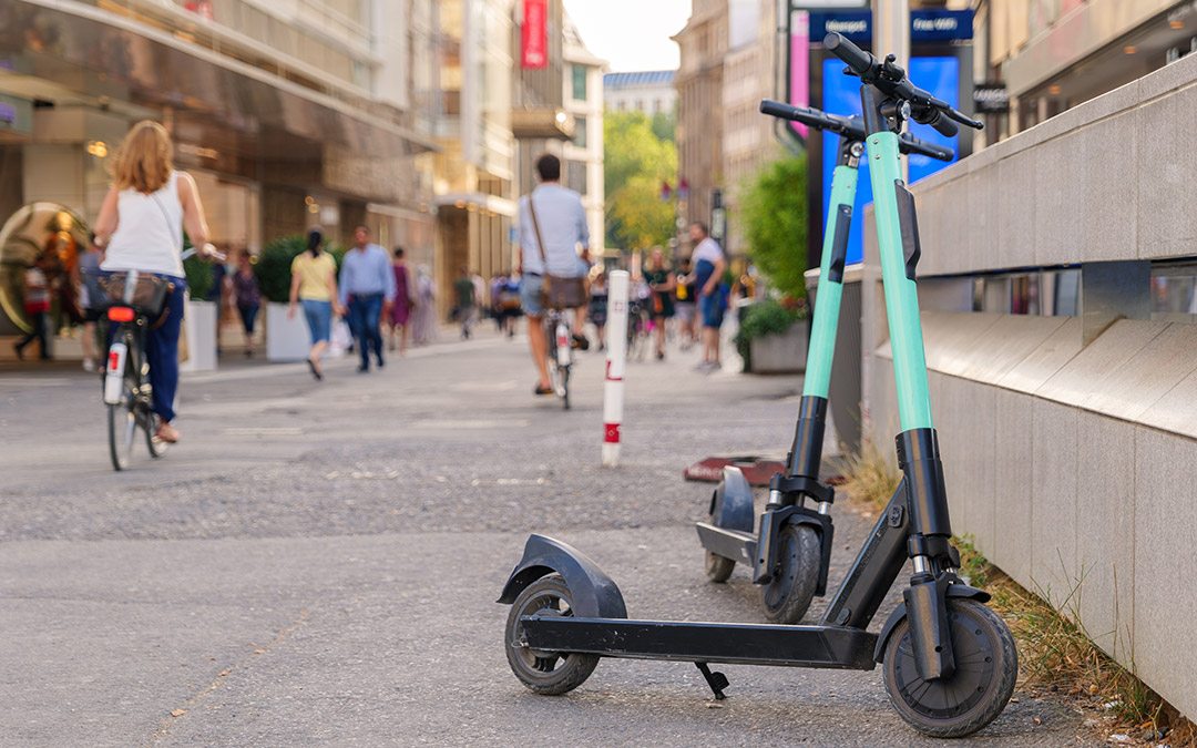 E-Scooter in der Stadt