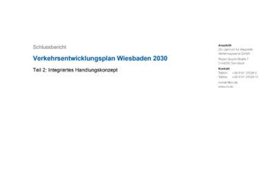 Verkehrsentwicklungsplan Wiesbaden 2030 (Bericht)